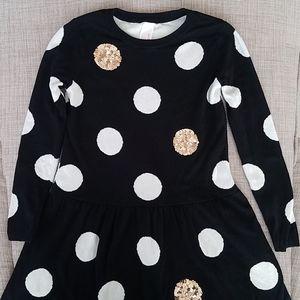 Cat and Jack Black Polka Dot Dress